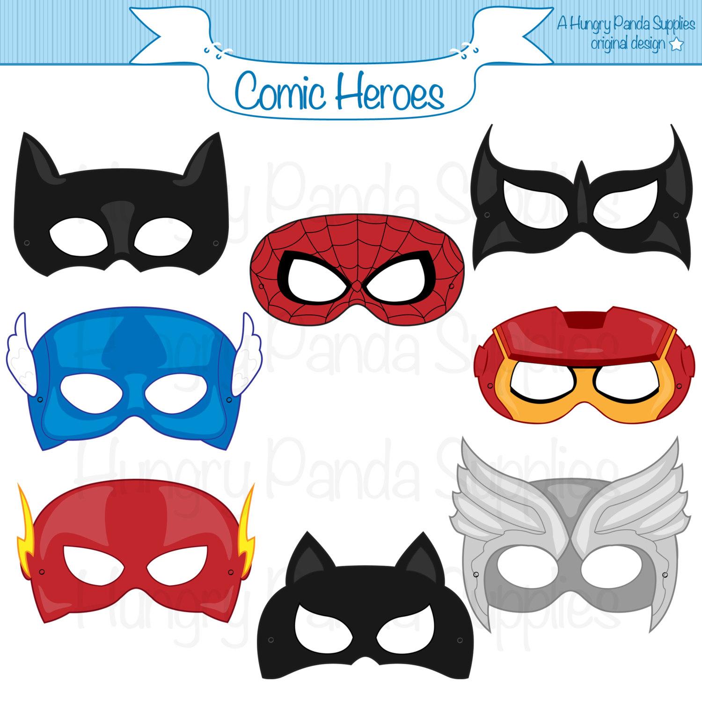 Super Hero Mask Template Free Download Best Super Hero Mask