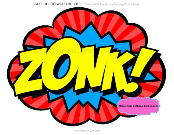 570x441 Superhero Word Bubbles Superhero Clipart Superhero