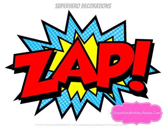 570x441 Superhero Word Bubbles Superhero Decorations Superhero
