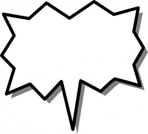626x568 Superhero Speech Bubble Clipart
