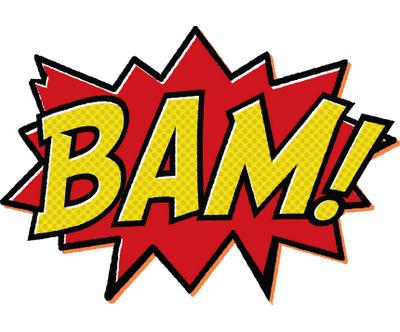 400x332 Superhero Words Clip Art