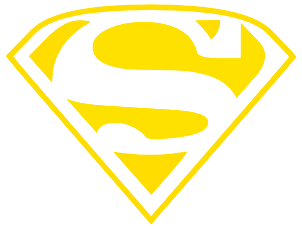 600x455 Wildcats Superman Logo(Gold Only) Clip Art