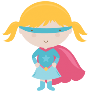 300x300 Cute Supergirl Clipart