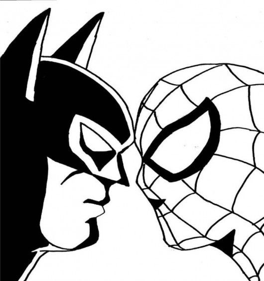 Superhero Black And White Clipart