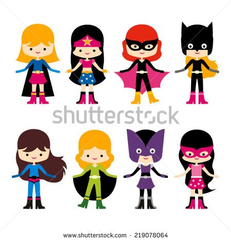 450x470 Female Superhero Clipart#2215638