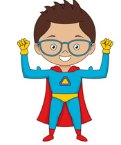 175x210 Super Girl clipart flying superhero