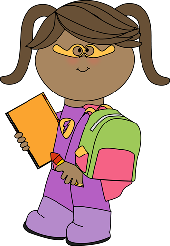 346x500 Super Girl clipart superhero reading