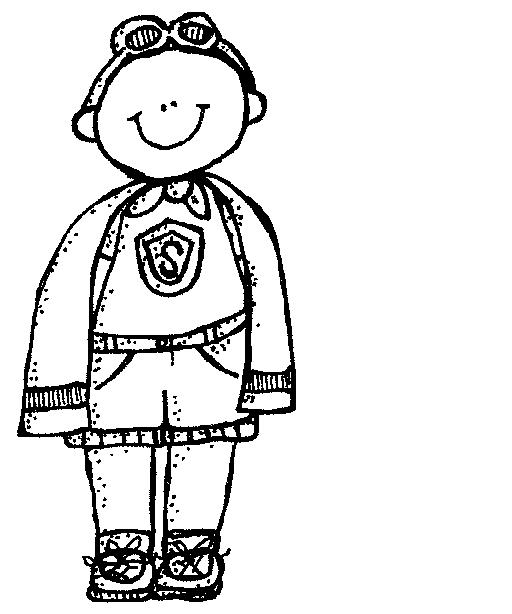 512x614 Superhero Black And White Clipart