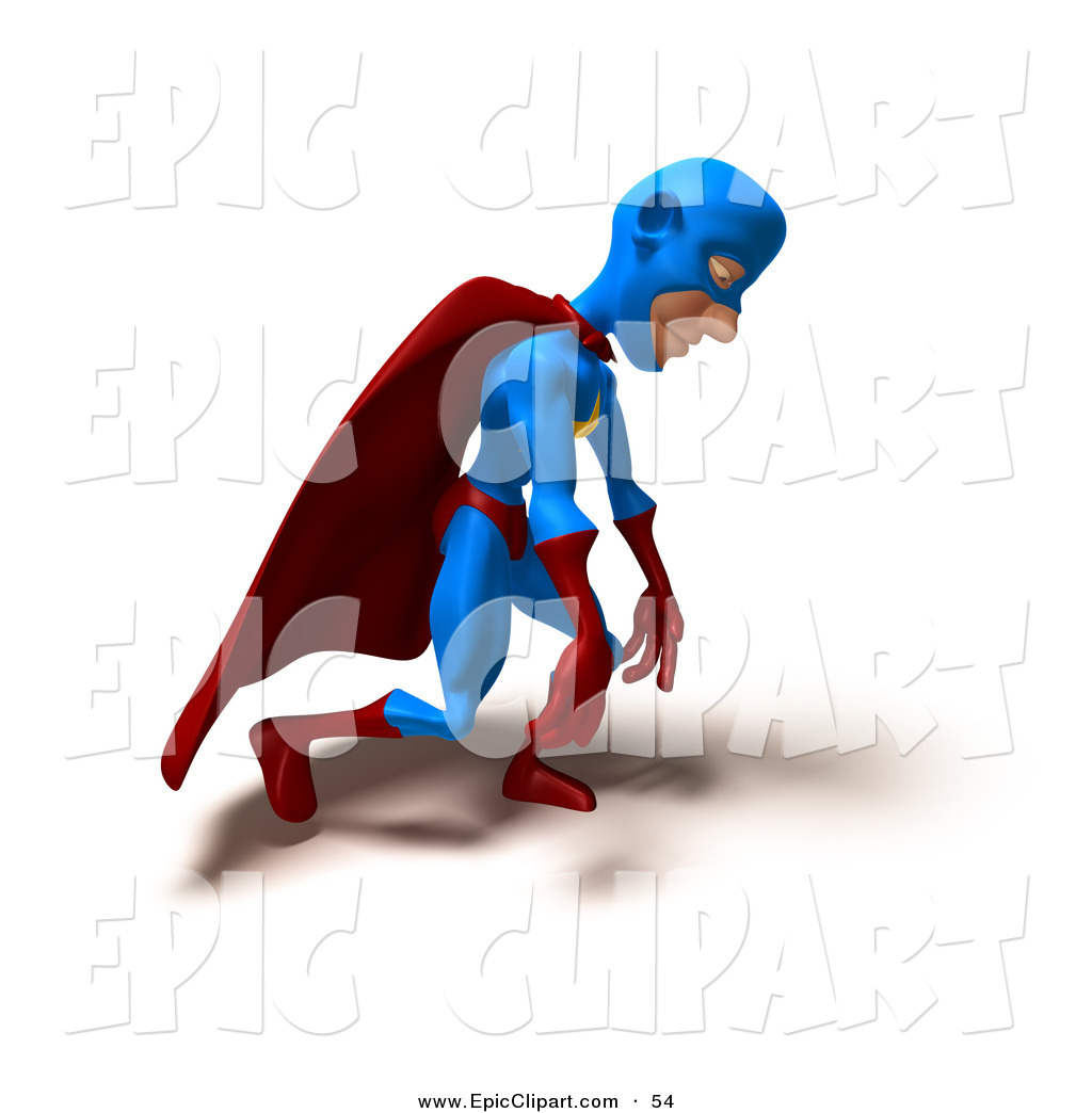 1024x1044 Vector Clip Art of a 3d Male Star Superhero Character Slouching