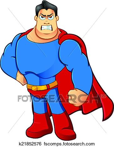 364x470 Clip Art of Superhero