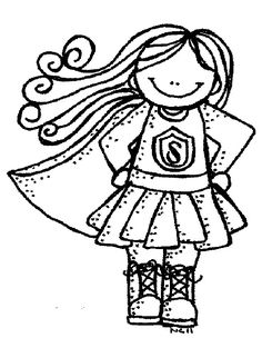 236x322 Super Girl Clipart Black And White