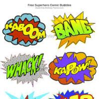200x200 Free Superhero Clipart