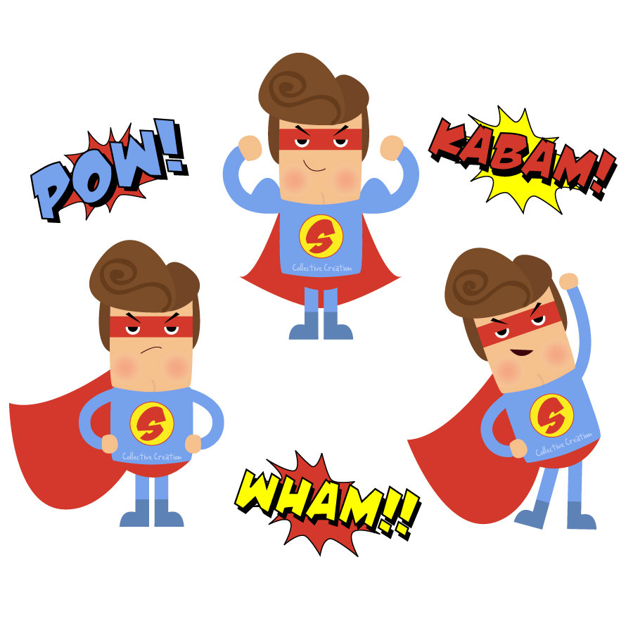 900x900 Kind Superhero Clipart