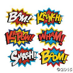 236x236 Superhero Burst Clipart Collection