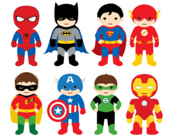 340x270 Superheroes Clipart