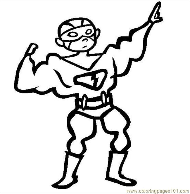 650x664 Superhero Costume Coloring Page