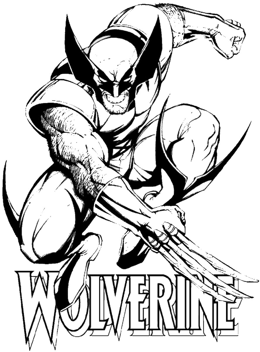 887x1200 Wolverine and the X Men Coloring Pages
