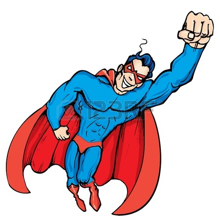 Superhero Flying Clipart