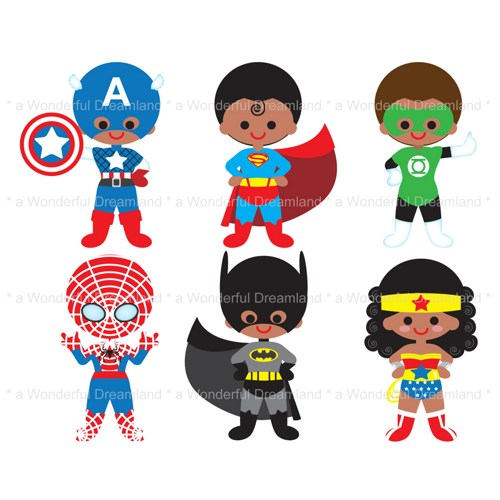 500x500 Free Super Hero Clipart Image