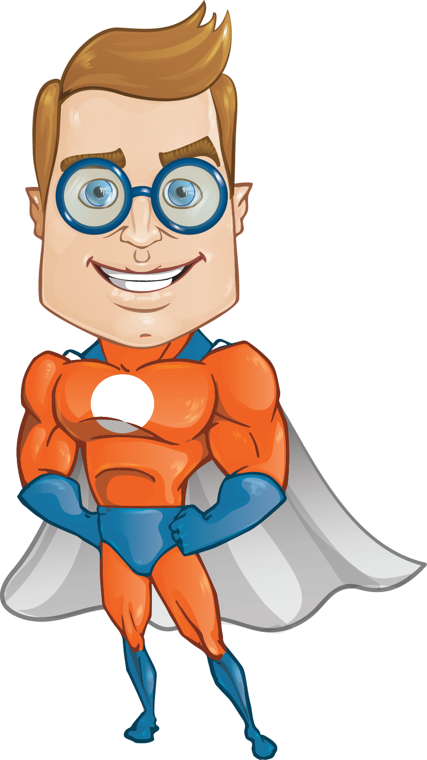 835x1484 Orange clipart superhero