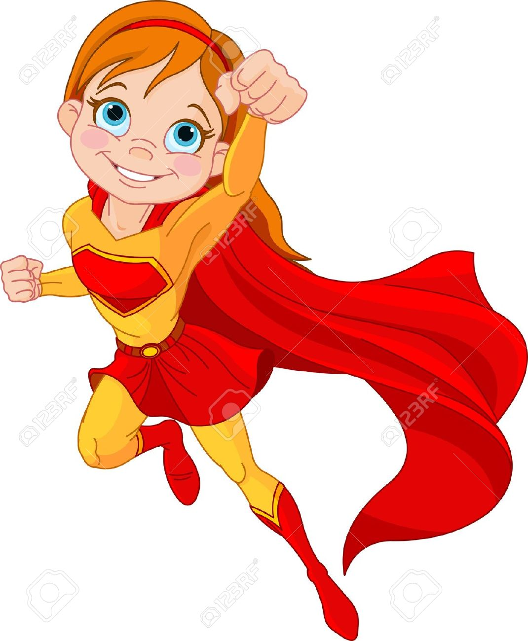 1070x1300 Super Girl clipart child