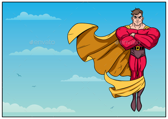 590x420 Download Superhero Flying in Sky Horizontal For Free
