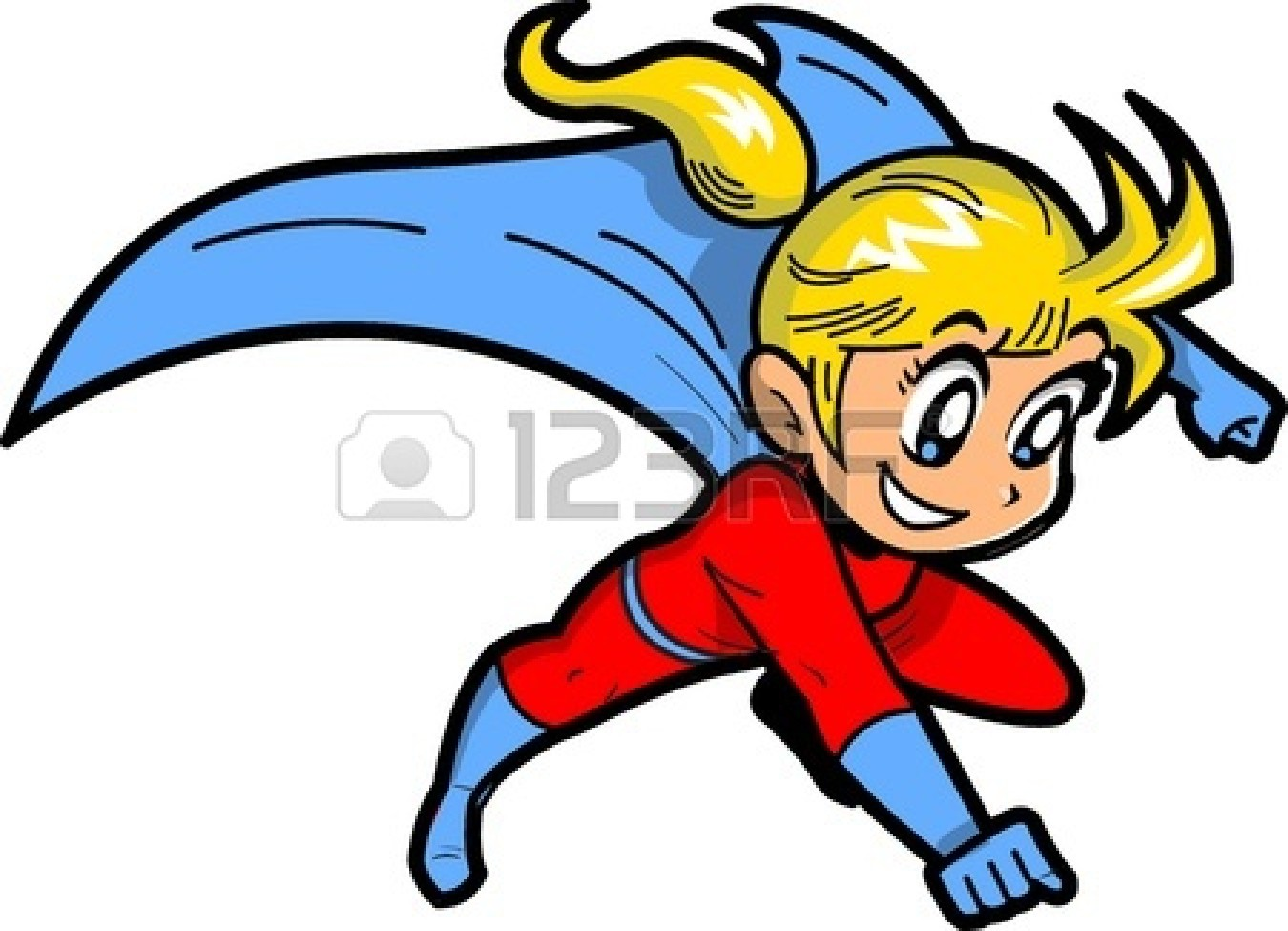 1350x975 Superman kid clipart girl