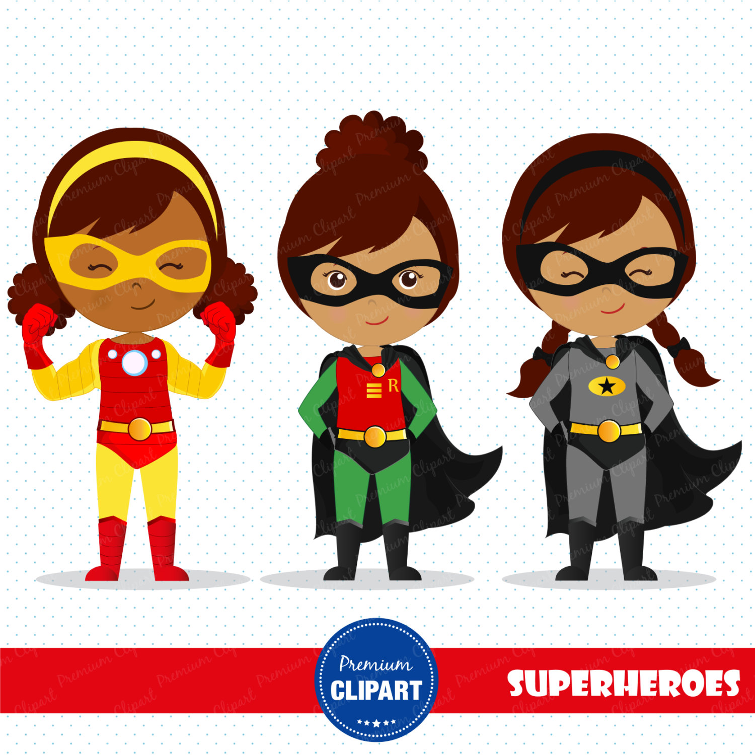 Superhero african american. Girl cliparts free download