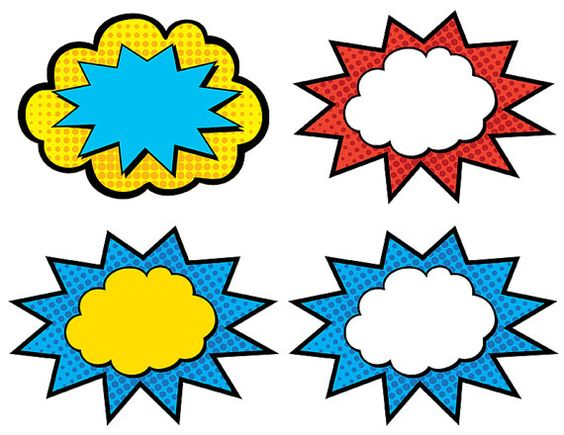 564x435 Superhero Action Bubble Clipart, Free Superhero Action Bubble Clipart