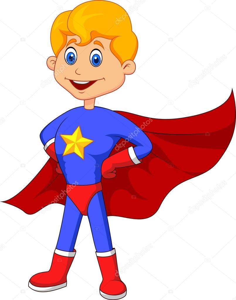 805x1024 Superhero Kid Cartoon Stock Vector Tigatelu