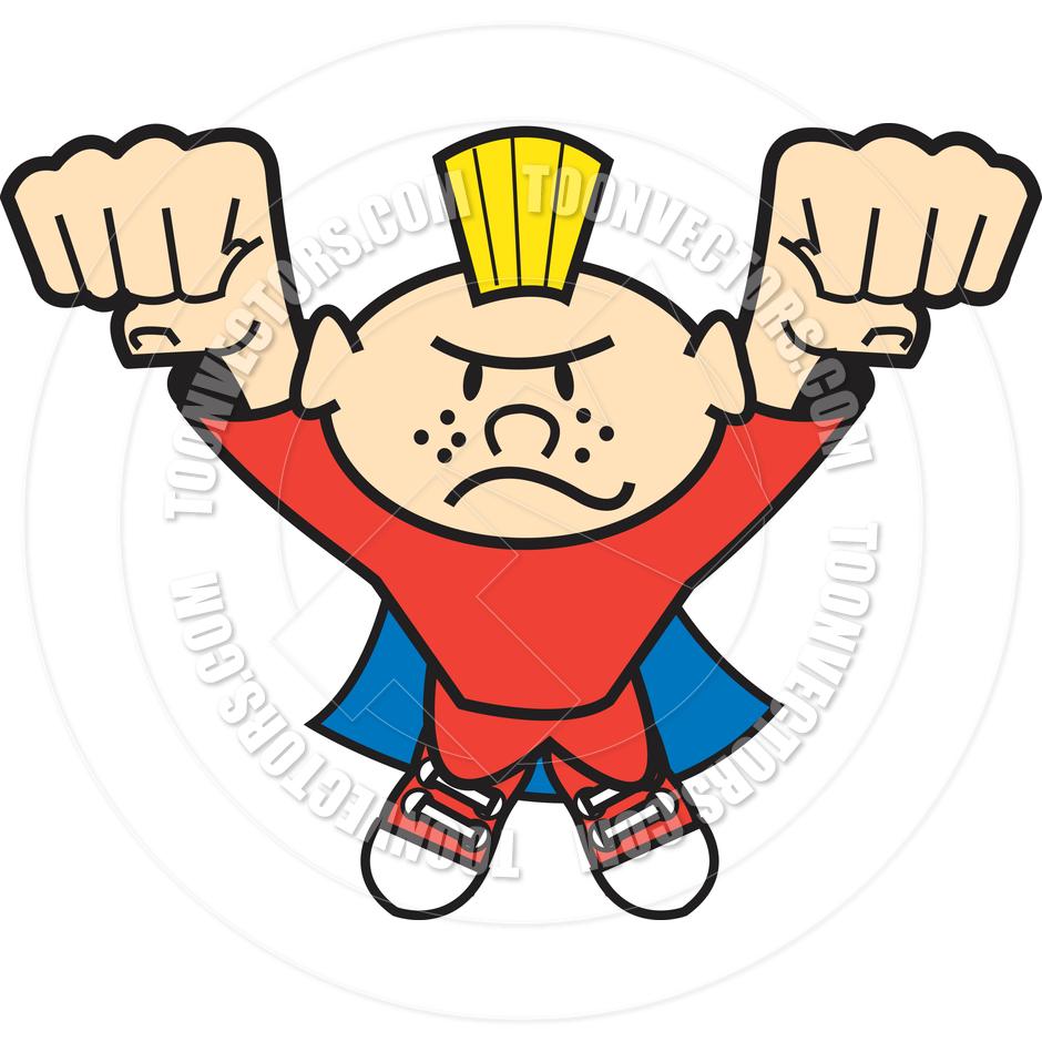 940x940 Cartoon Superhero Kid Vector Illustration by Clip Art Guy Toon