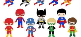 Superhero Kid Clipart