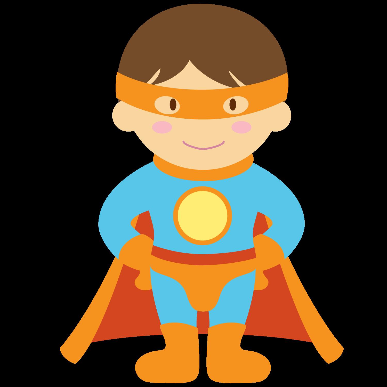 1500x1500 Kids dressed as Superheroes Clipart.