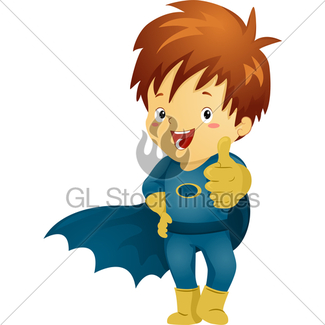 325x325 Little Kid Boy Superhero Doing Superhero Pose Gl Stock Images