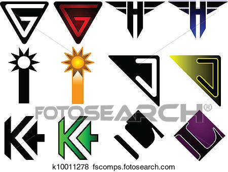 450x341 Clip Art Of Superhero Or Athletics Symbols G