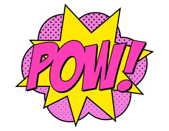 570x440 Pink clipart superhero