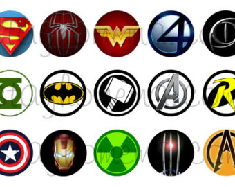 340x270 Superhero Bottle Cap Etsy