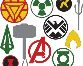 340x270 Marvel Superhero Symbols