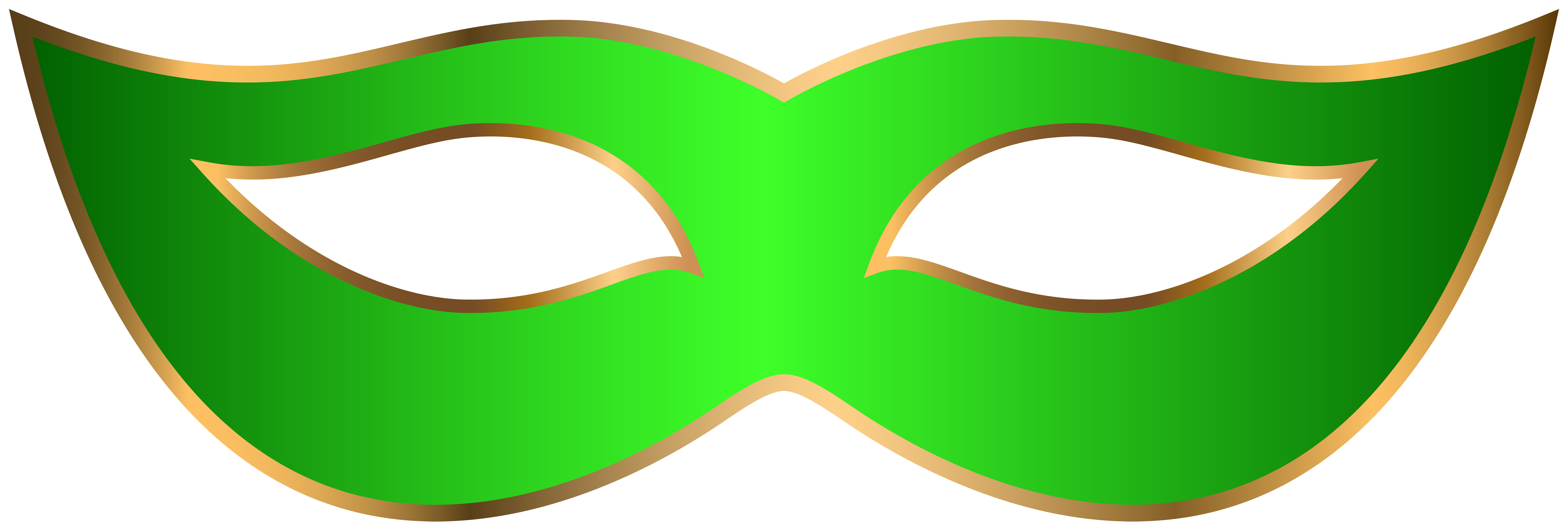 8000x2715 Green Carnival Mask Clip Art Transparent Image