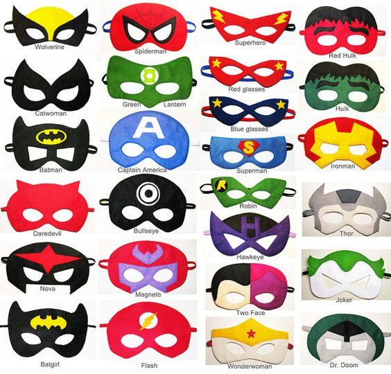 564x540 100 Felt Superhero Masks