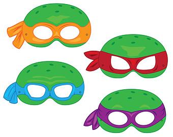 340x270 Ninja Turtle Mask Clipart