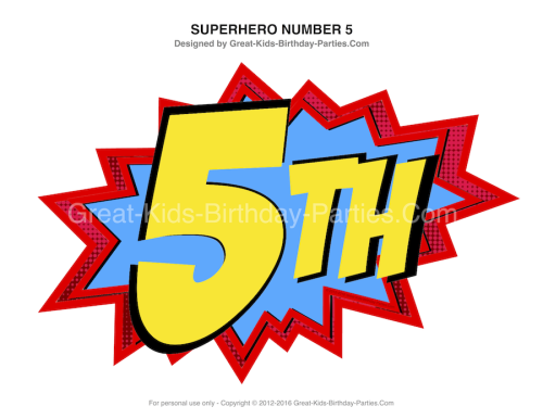 500x386 Superhero Printables