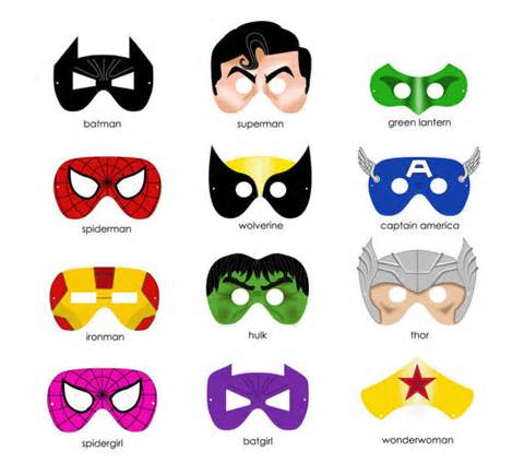 480x435 Free Printable Superhero Masks! Print And Cut To Make Your Own
