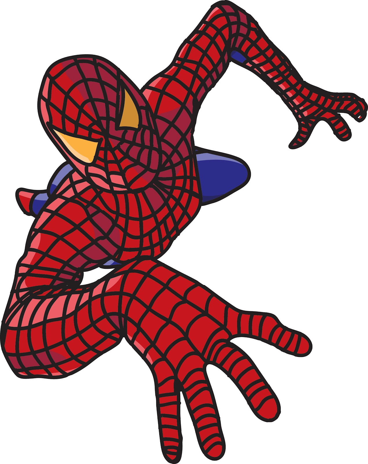 1269x1600 Spiderman Face Mask Template. Spiderman Clipart Outline