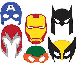 340x270 Superhero Masks Svg Files Clipart Panda