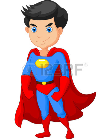 358x450 Superhero Kid Cartoon Royalty Free Cliparts, Vectors, And Stock