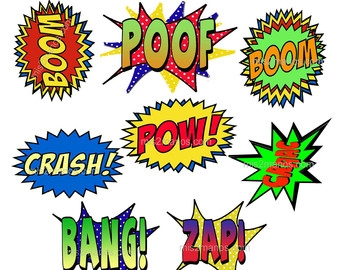 340x270 Comic Book Word Clipart