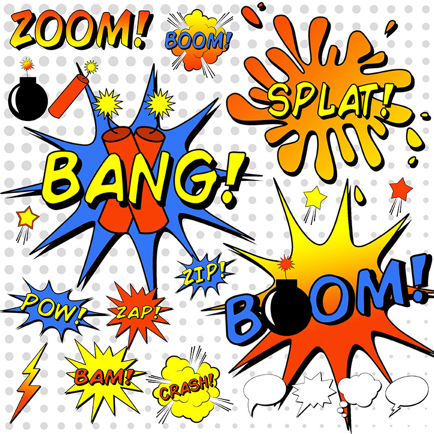 864x864 Superhero Clipart Comic Book Clipart Comic Book Word
