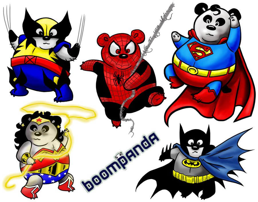 900x705 Panda Superheroes By Quibly