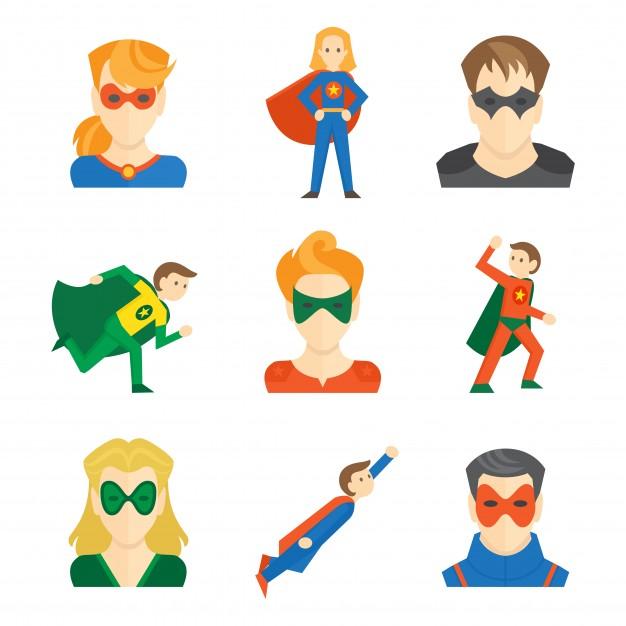 626x626 Superhero Vector Illustration Vectors, Photos And Psd Files Free